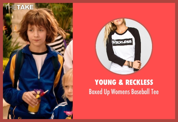 YOUNG & RECKLESS white tee from Blended seen with Emma Fuhrmann (Espn Friedman)
