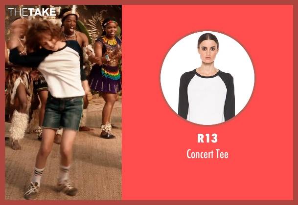 R13 white tee from Blended seen with Emma Fuhrmann (Espn Friedman)