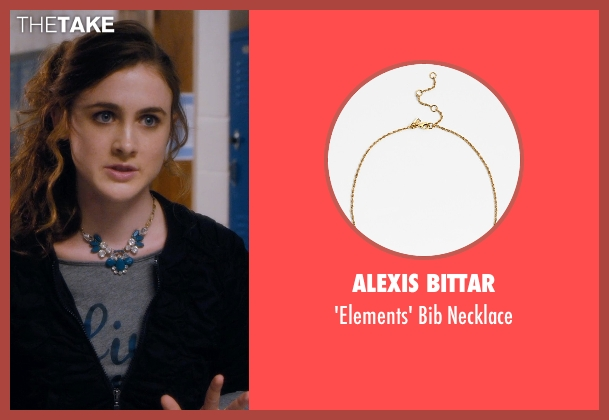 Alexis Bittar blue necklace from Barely Lethal seen with Emma Holzer (Donna)