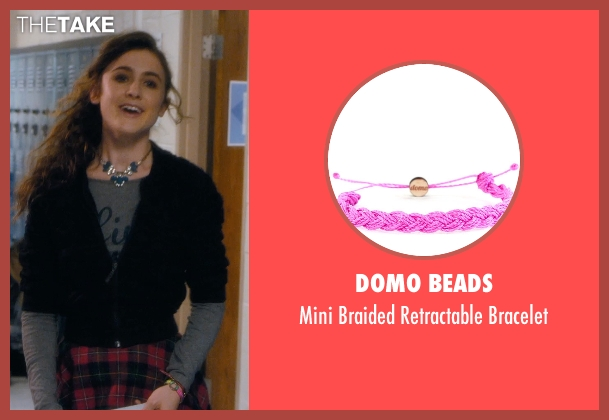 Domo Beads pink bracelet from Barely Lethal seen with Emma Holzer (Donna)