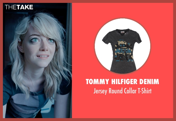 Tommy Hilfiger Denim gray t-shirt from Birdman seen with Emma Stone (Sam)