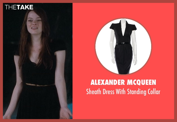 Alexander Mcqueen black collar from Crazy, Stupid, Love. seen with Emma Stone (Hannah)