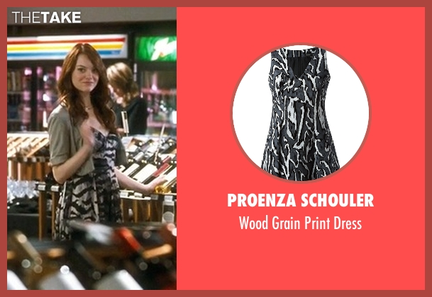Proenza Schouler gray dress from Crazy, Stupid, Love. seen with Emma Stone (Hannah)