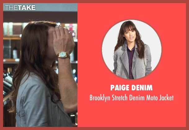 Paige Denim gray jacket from Crazy, Stupid, Love. seen with Emma Stone (Hannah)