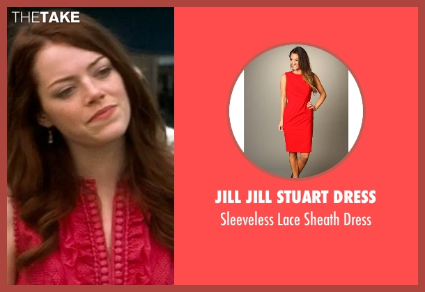 Jill Jill Stuart Dress red dress from Crazy, Stupid, Love. seen with Emma Stone (Hannah)