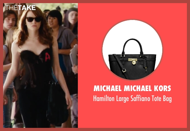 Michael Michael Kors black bag from Easy A seen with Emma Stone (Olive)