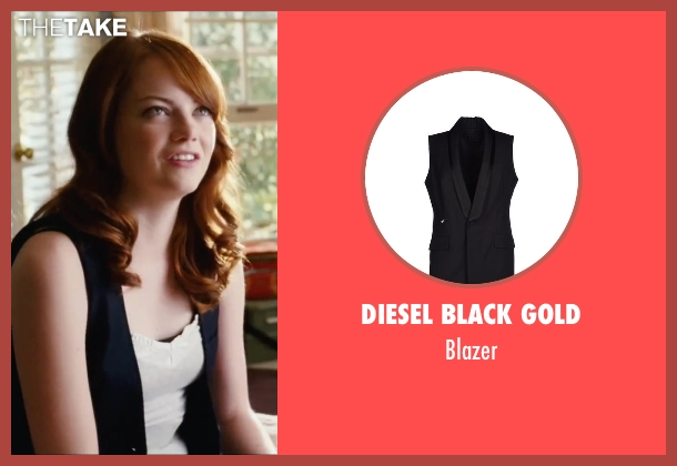 Diesel Black Gold black blazer from Easy A seen with Emma Stone (Olive)