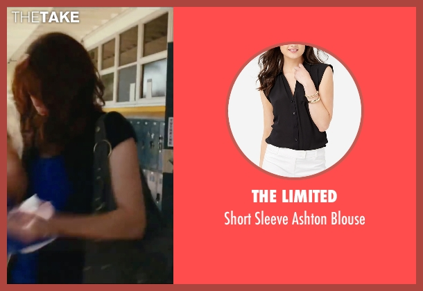 The Limited black blouse from Easy A seen with Emma Stone (Olive)