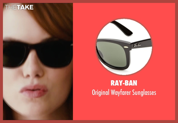Ray-Ban black sunglasses from Easy A seen with Emma Stone (Olive)