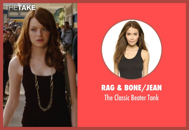 Rag & Bone/jean black tank from Easy A seen with Emma Stone (Olive)