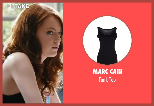 Marc Cain black top from Easy A seen with Emma Stone (Olive)