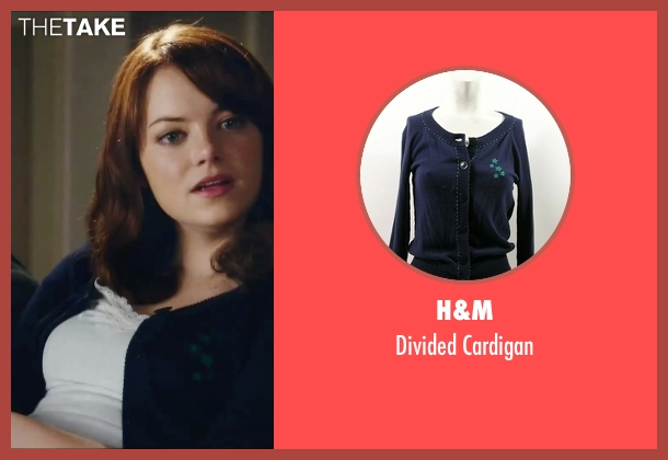 H&M blue cardigan from Easy A seen with Emma Stone (Olive)