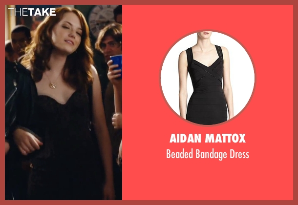 Aidan Mattox blue dress from Easy A seen with Emma Stone (Olive)