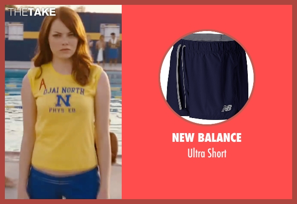 New Balance blue short from Easy A seen with Emma Stone (Olive)