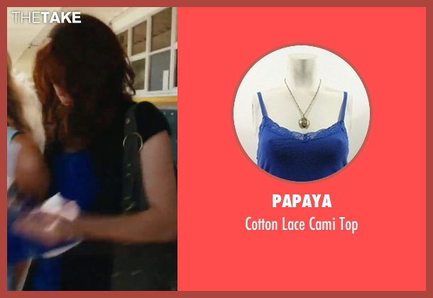 Papaya blue top from Easy A seen with Emma Stone (Olive)