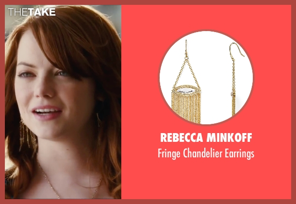 Rebecca Minkoff gold earrings from Easy A seen with Emma Stone (Olive)