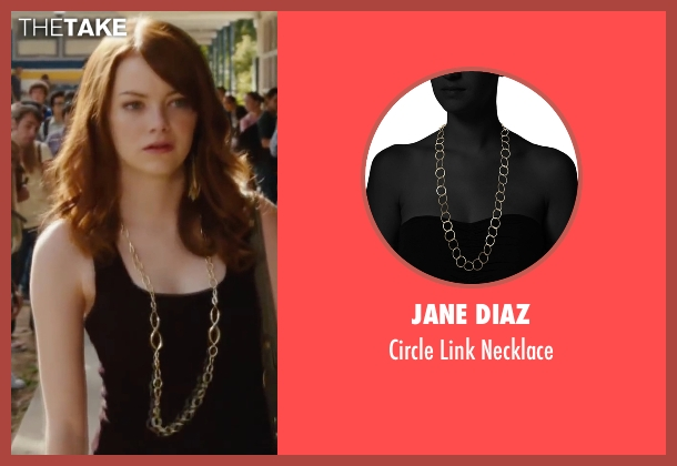 Jane Diaz gold necklace from Easy A seen with Emma Stone (Olive)