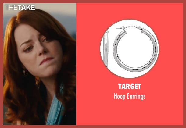 Target silver earrings from Easy A seen with Emma Stone (Olive)