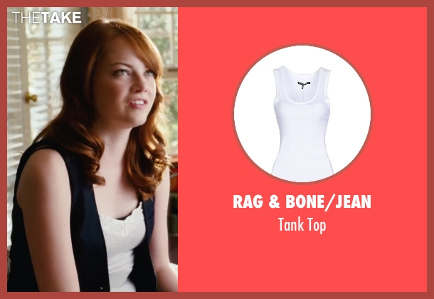 Rag & Bone/jean white top from Easy A seen with Emma Stone (Olive)