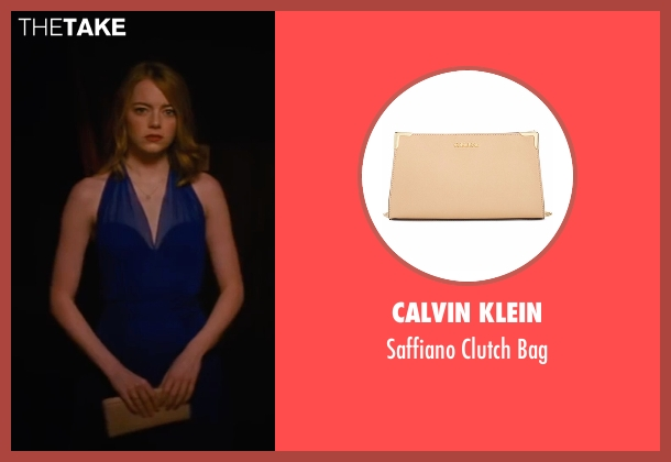 Calvin Klein beige bag from La La Land seen with Emma Stone (Mia)