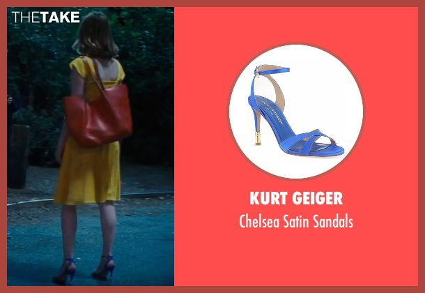 Kurt Geiger blue sandals from La La Land seen with Emma Stone (Mia)
