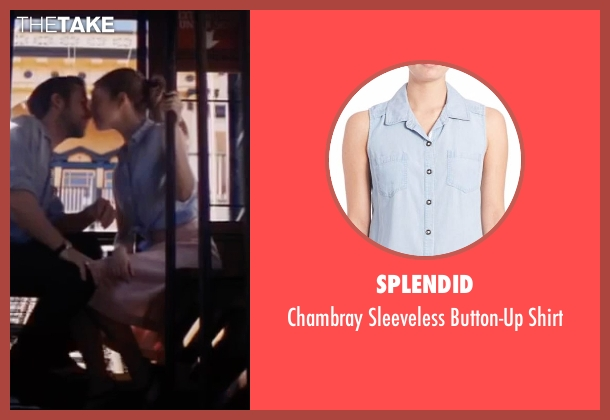 Splendid blue shirt from La La Land seen with Emma Stone (Mia)