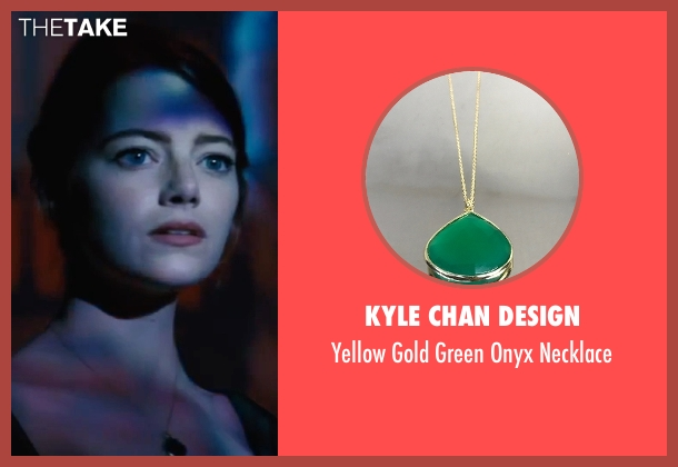 Kyle Chan Design gold necklace from La La Land seen with Emma Stone (Mia)