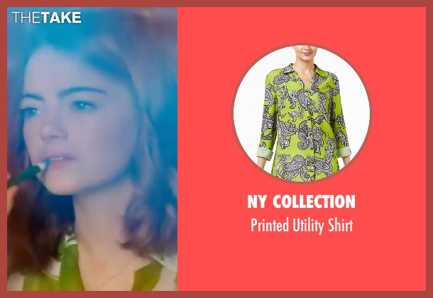 NY Collection green shirt from La La Land seen with Emma Stone (Mia)