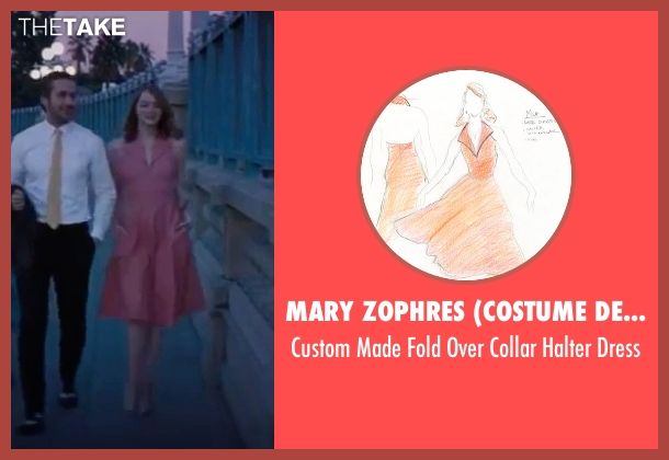 Mary Zophres (Costume Designer) pink dress from La La Land seen with Emma Stone (Mia)