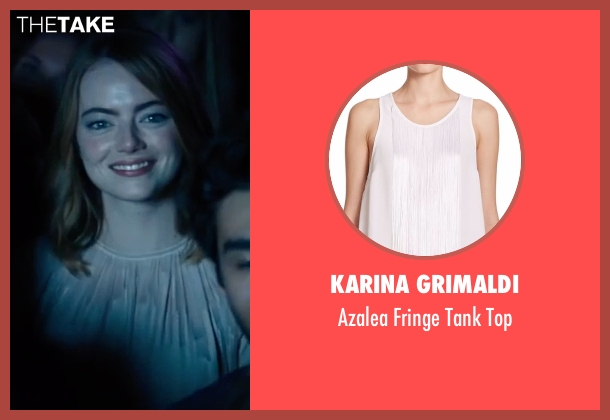 Karina Grimaldi white top from La La Land seen with Emma Stone (Mia)