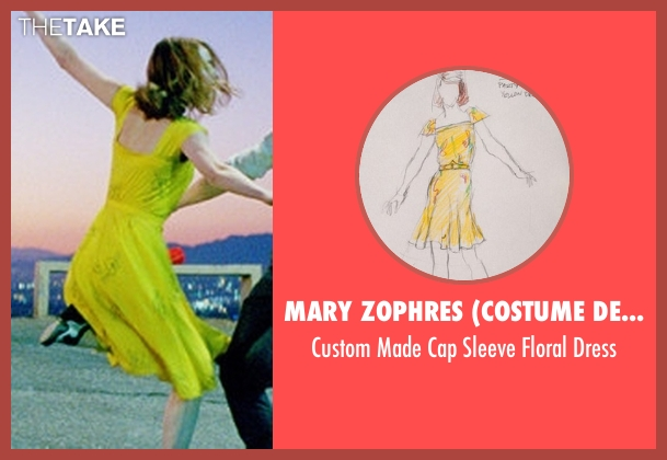 Mary Zophres (Costume Designer) yellow dress from La La Land seen with Emma Stone (Mia)