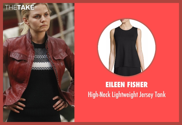 Eileen Fisher black tank from Once Upon a Time seen with Emma Swan (Jennifer Morrison)