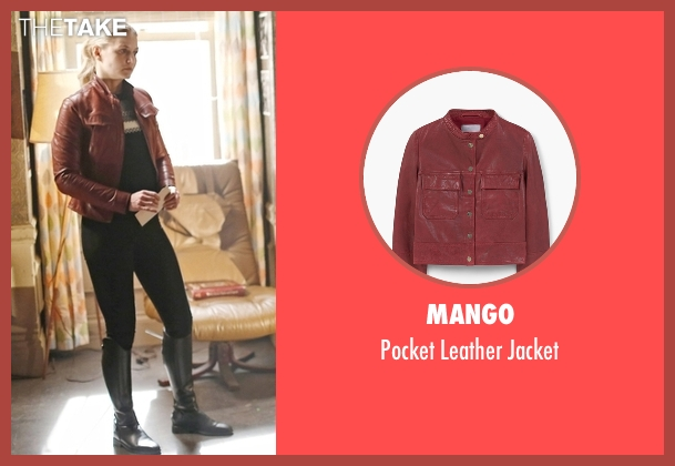 Mango red jacket from Once Upon a Time seen with Emma Swan (Jennifer Morrison)