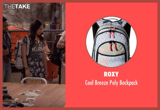 Roxy backpack from The Great Indoors seen with Emma (Christine Ko)
