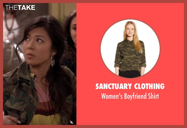 Sanctuary Clothing  green shirt from The Great Indoors seen with Emma (Christine Ko)