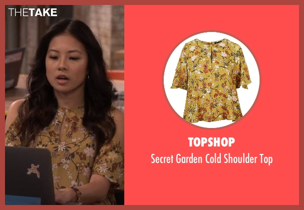 Topshop yellow top from The Great Indoors seen with Emma (Christine Ko)