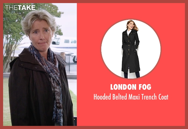 London Fog black coat from A Walk in the Woods seen with Emma Thompson (Unknown Character)
