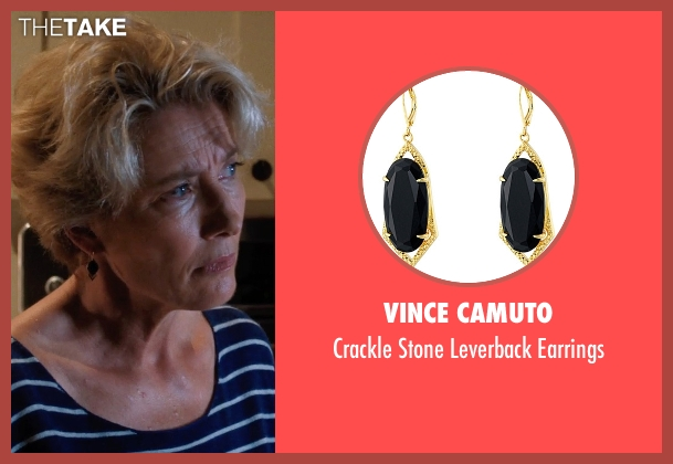 Vince Camuto black earrings from A Walk in the Woods seen with Emma Thompson (Unknown Character)