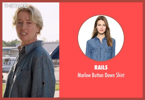 Rails blue shirt from A Walk in the Woods seen with Emma Thompson (Unknown Character)