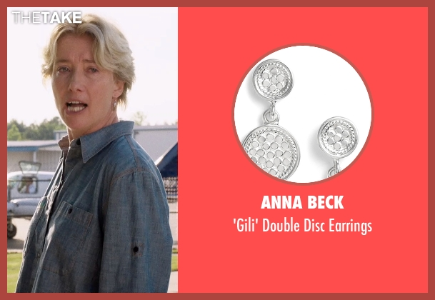 Anna Beck silver earrings from A Walk in the Woods seen with Emma Thompson (Unknown Character)
