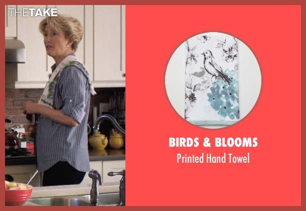 Birds & Blooms towel from A Walk in the Woods seen with Emma Thompson (Unknown Character)