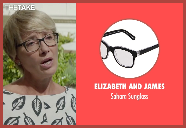 Elizabeth And James black sunglass from Burnt seen with Emma Thompson (Dr. Rosshilde)