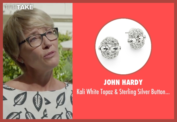 John Hardy silver earrings from Burnt seen with Emma Thompson (Dr. Rosshilde)
