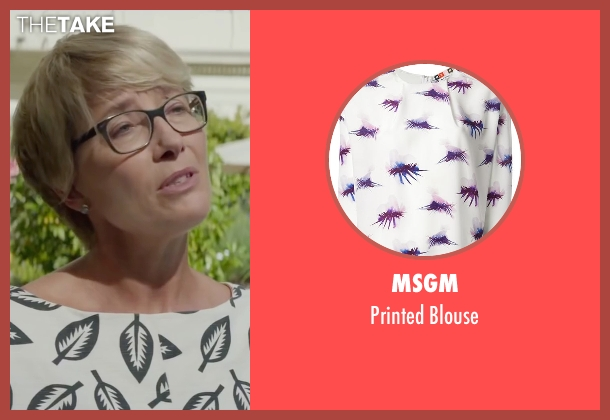 Msgm white blouse from Burnt seen with Emma Thompson (Dr. Rosshilde)