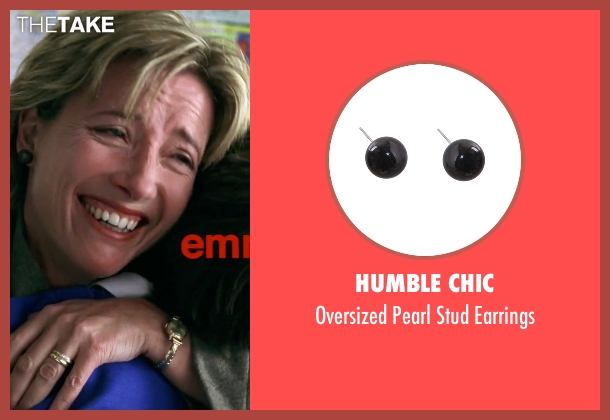 Humble Chic black earrings from Love Actually seen with Emma Thompson (Karen)