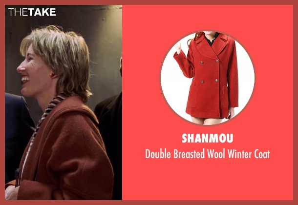 Shanmou brown coat from Love Actually seen with Emma Thompson (Karen)