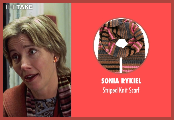 Sonia Rykiel brown scarf from Love Actually seen with Emma Thompson (Karen)