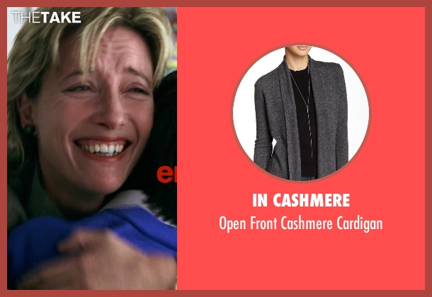 In Cashmere gray cardigan from Love Actually seen with Emma Thompson (Karen)
