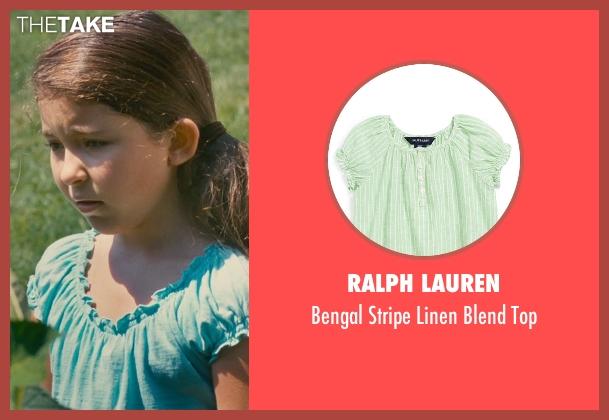 Ralph Lauren green top from The Judge seen with Emma Tremblay (Lauren Palmer)