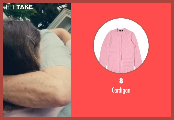 8 pink cardigan from The Judge seen with Emma Tremblay (Lauren Palmer)